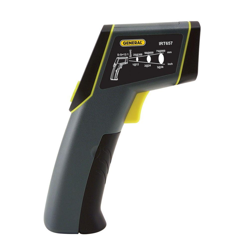 Laser Temperature Non-Contact Infrared Thermometer with 12:1 Spot Ratio, Maximum Temperature 1,076 Degree